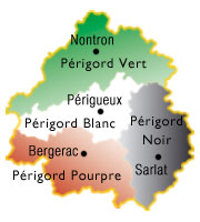 Carte 4 Périgords